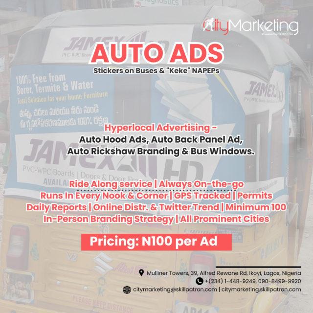 Keke Ads, Sticker Advertising